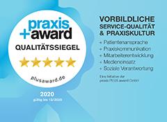 Wir freuen uns über die neueste Auszeichnung, den Praxis Plus Award mit fünf Sternen